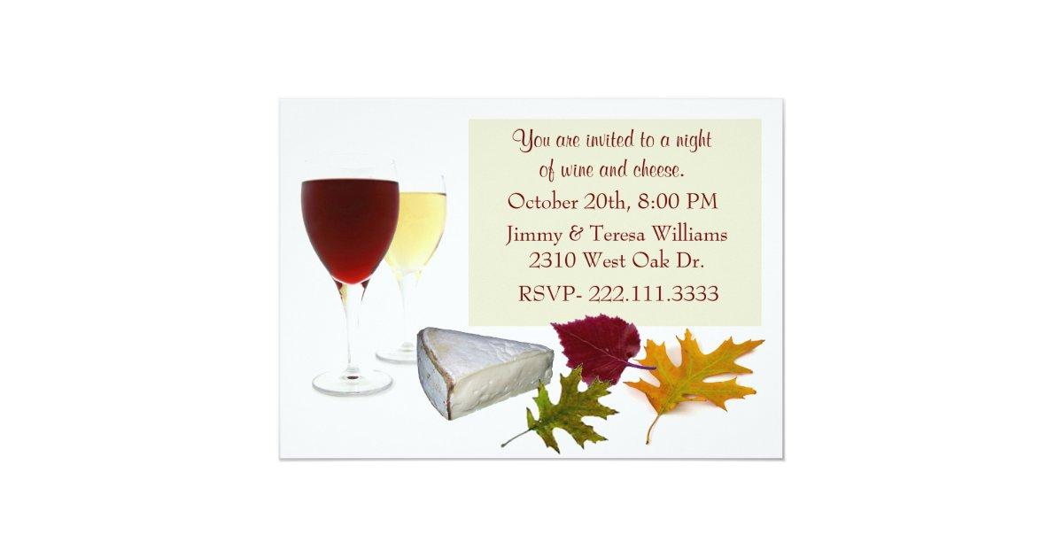 Fall Wine and Cheese Party Invitation | Zazzle.com