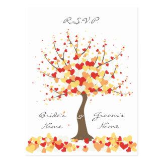 Fall Winter Wedding - RSVP Postcard