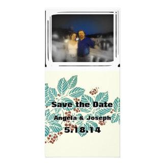 Fall Winter Wedding Save the Date Custom Add Photo Card