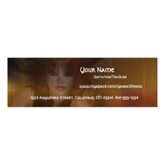 Fall Witch Design 1 Profile Cards Double-Sided Mini Business Cards (Pack Of 20)