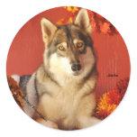 Fall Wolf Sticker
