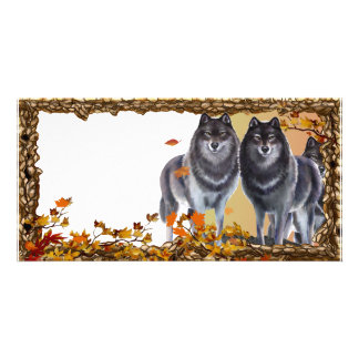 Fall Wolves Card