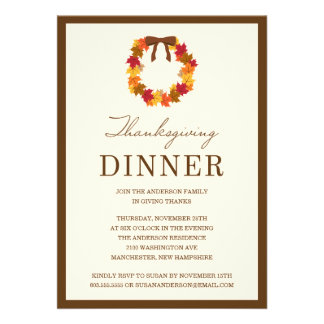 FALL WREATH IN BROWN | THANKSGIVING DINNER INVITE