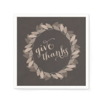 Fall Wreath | Thanksgiving Paper Napkins