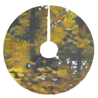 Fall Yellow Trees Brushed Polyester Tree Skirt