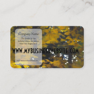Fall Yellow Trees Business Card