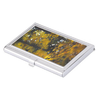 Fall Yellow Trees Business Card Case