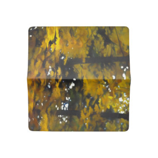 Fall Yellow Trees Checkbook Cover