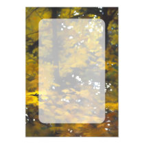 Fall Yellow Trees Magnetic Invitation