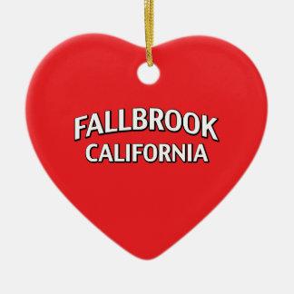 Fallbrook California Ceramic Ornament
