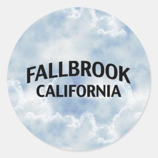 Fallbrook California Classic Round Sticker
