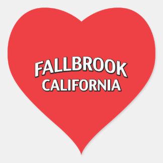 Fallbrook California Heart Sticker