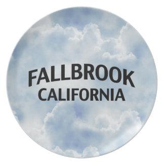 Fallbrook California Melamine Plate