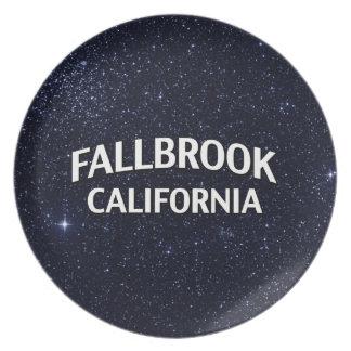 Fallbrook California Plate