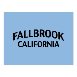 Fallbrook California Postcard