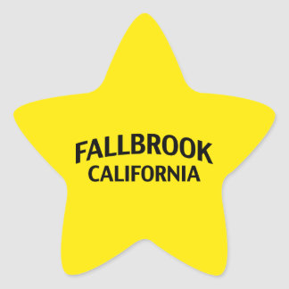 Fallbrook California Star Sticker