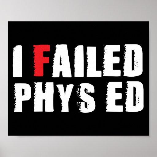 Fallé el texto del blanco de Phys Ed Poster