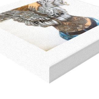 Fallen - an angel with tattoos canvas print