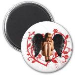 Fallen Angel 2 Inch Round Magnet