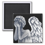 Fallen, Angel Art Products 2 Inch Square Magnet