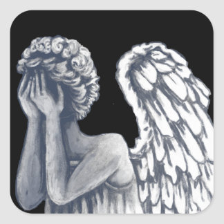 Fallen, Angel Art Products Square Sticker