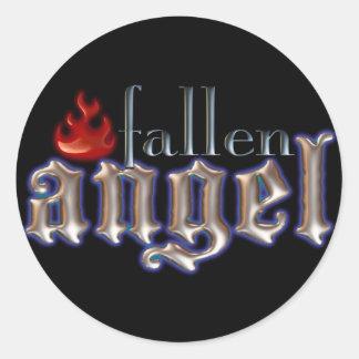 Fallen Angel Classic Round Sticker