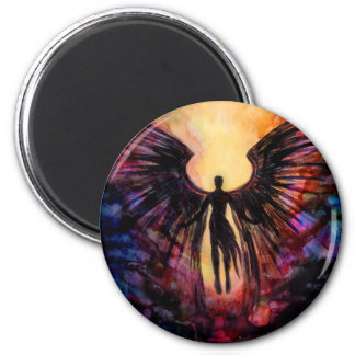 Fallen angel - contemporary painting magnet