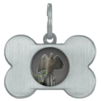Fallen Angel Dove Pet Tag