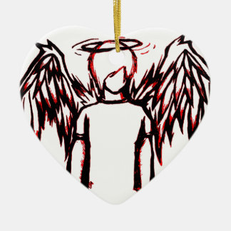 Fallen Angel red Christmas Tree Ornaments