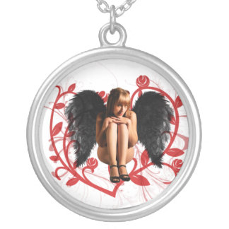Fallen Angel Silver Plated Necklace