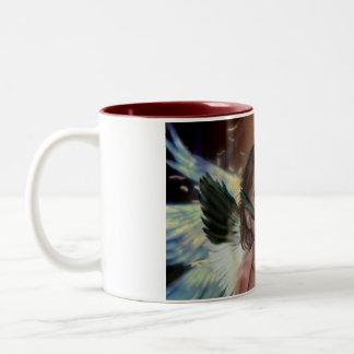 Fallen angel Two-Tone coffee mug