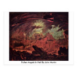 Fallen Angels In Hell By John Martin Post Card