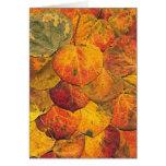 Fallen Aspen Leaves Card