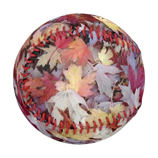 Fallen Autumn Leaves Baseball
