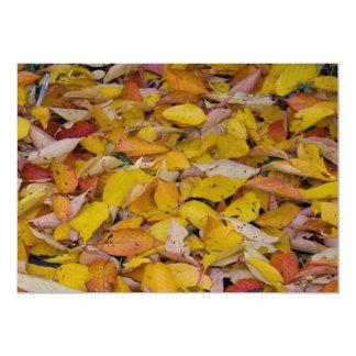 Fallen autumn leaves card