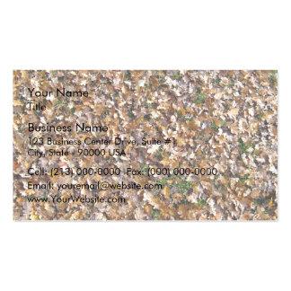 Fallen Autumn Leaves on Grassy Landscape Business Card