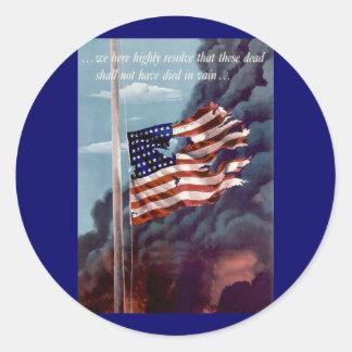 Fallen But Not Forgotten Classic Round Sticker