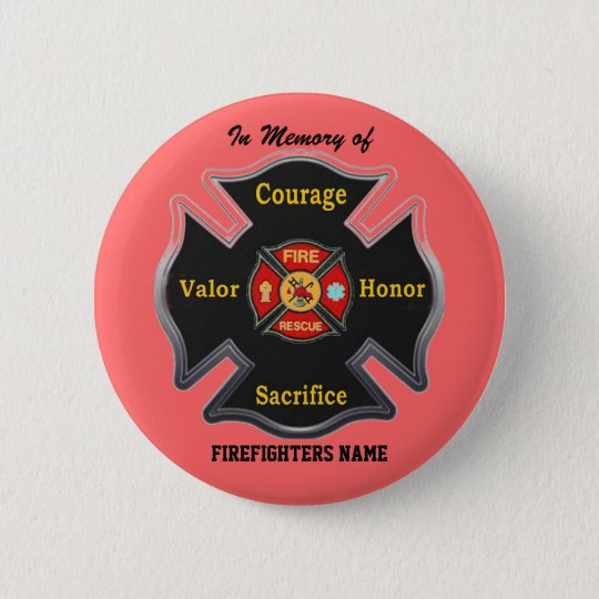 FALLEN BUT NOT FORGOTTEN PINBACK BUTTON