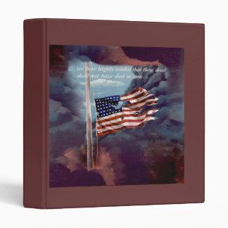 Fallen But Not Forgotten Smoke and Torn Flag Vinyl Binders