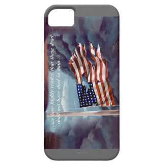 Fallen But Not Forgotten Smoke and Torn Flag iPhone SE/5/5s Case