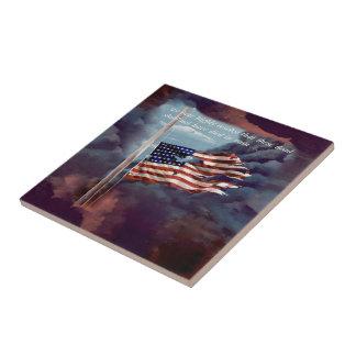 Fallen But Not Forgotten Smoke and Torn Flag Tile