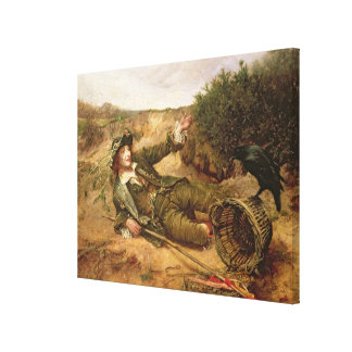 Fallen by the Wayside, 1886 (oil on canvas) Canvas Print