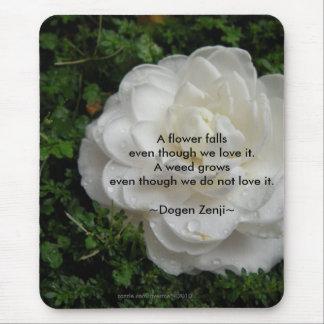 Fallen Camellia/ Zen Quote Mouse Pad