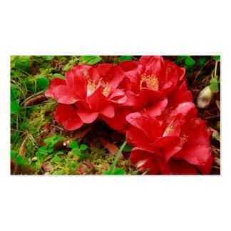 Fallen camellias - Pocket calendar Business Card