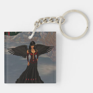 Fallen Dark Angel Key Chain