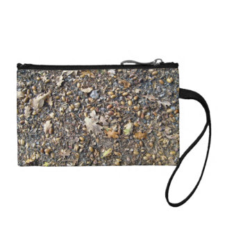 Fallen Dry Leaves and Fruits Coin Purse