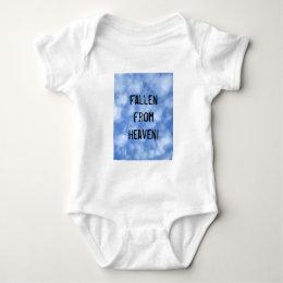 Fallen from heaven baby bodysuit