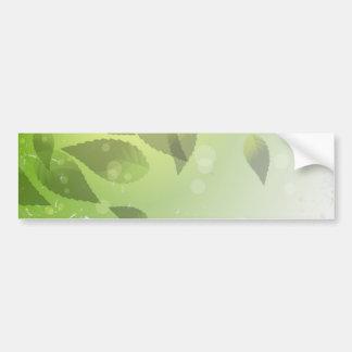 Fallen Green Leaves Car Bumper Sticker