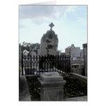 Fallen Headstone Greeting Card
