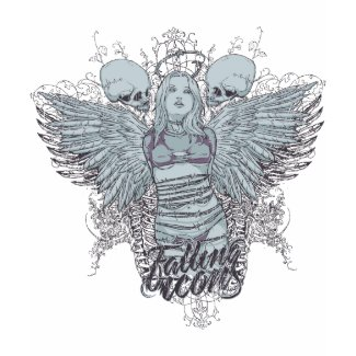 Fallen Icons Low cut t-Shirt Wings on back shirt